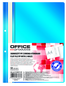 Папка Office Products с прозр.лице с перф,